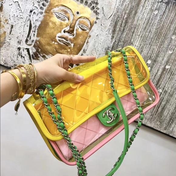 db459c64cf70 CHANEL Handbags - Chanel medium pvc flap bag